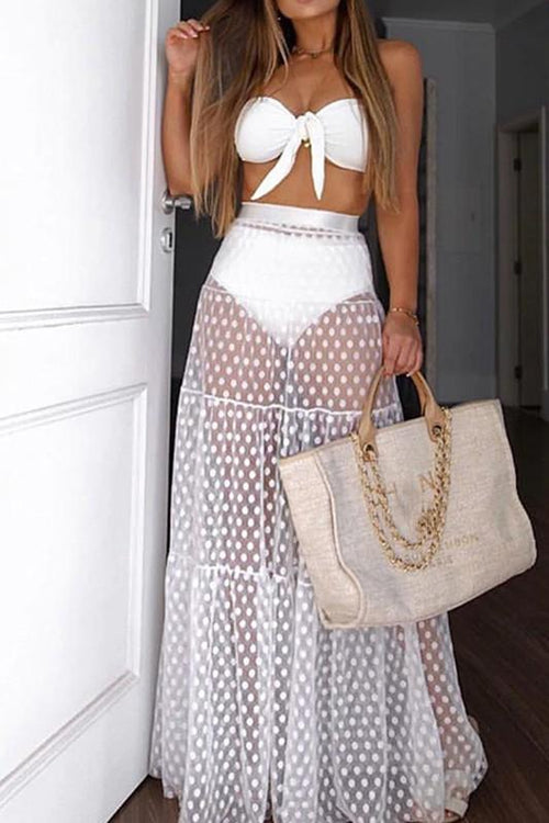Amaya High Waist Mesh Cover Up