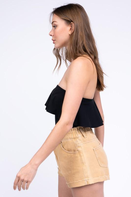 Angelina Tube Top Ruffle Bodysuit