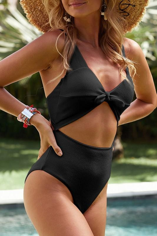 Tasia Cutout Swimsuit With Bow
