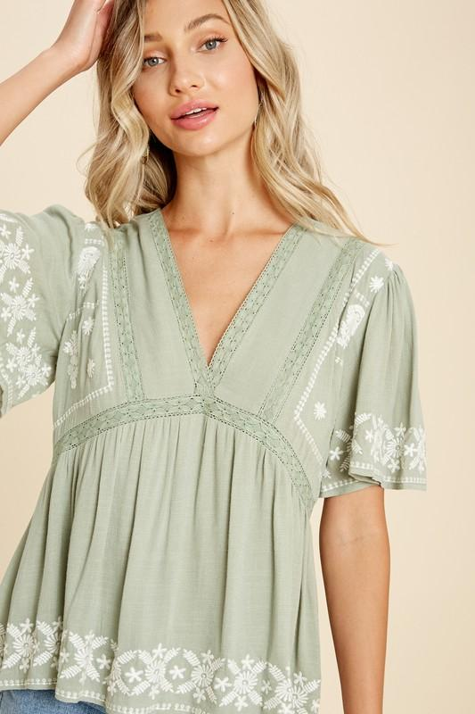 Shirley Embroidered Top