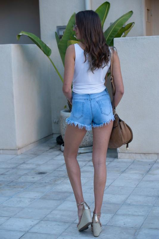 Bexley Fringe Denim Shorts