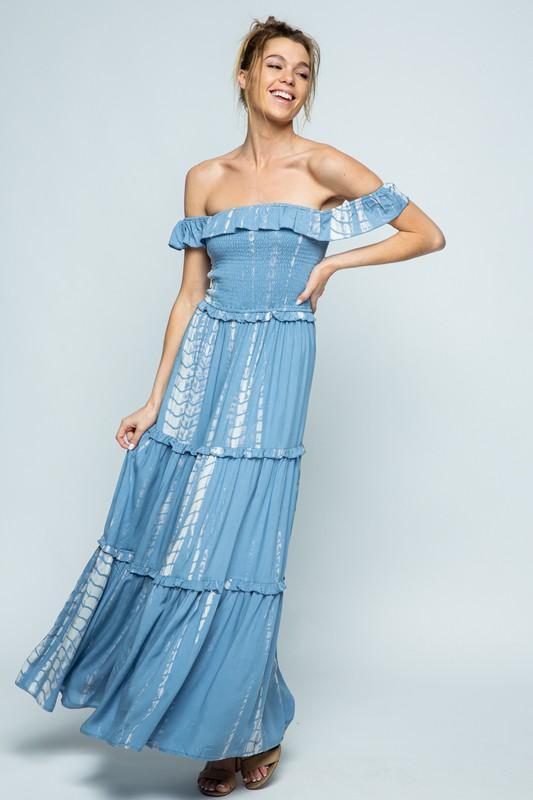 Hope Smocked Tie Dye Maxi Dress