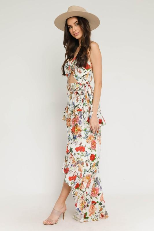 Aviana High Low Floral Dress