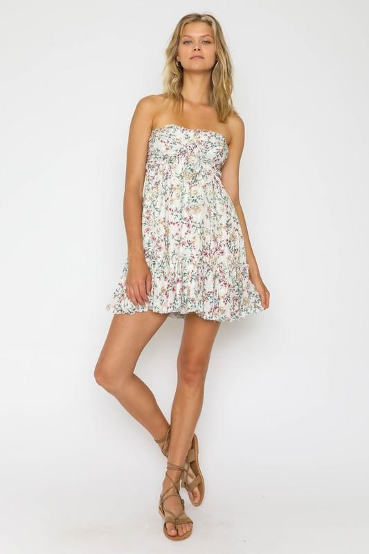 Blair Strapless Floral Mini Dress