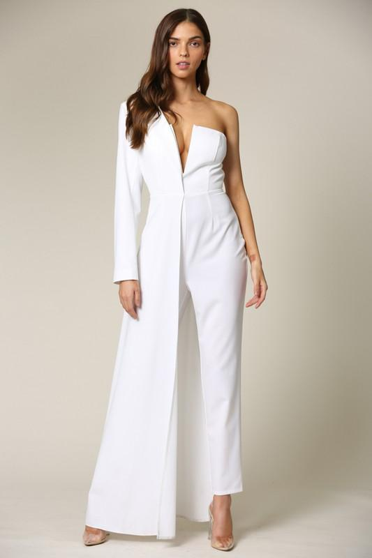 Nat One Shoulder Maxi Jumpsuit