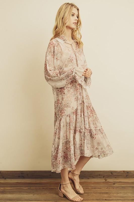 Larkyn Floral Print Boho Dress