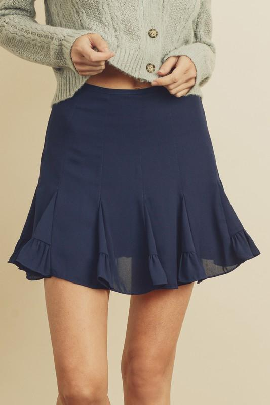 Yvette Ruffled Mini Skirt