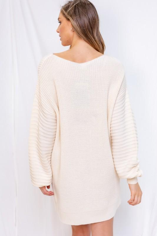 Clarisse Long Sleeve Sweater Dress