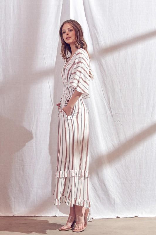 Carolyn Striped Wide Leg Jumpsuit