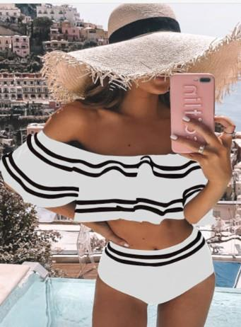 Callie Off Shoulder Bikini Set - White