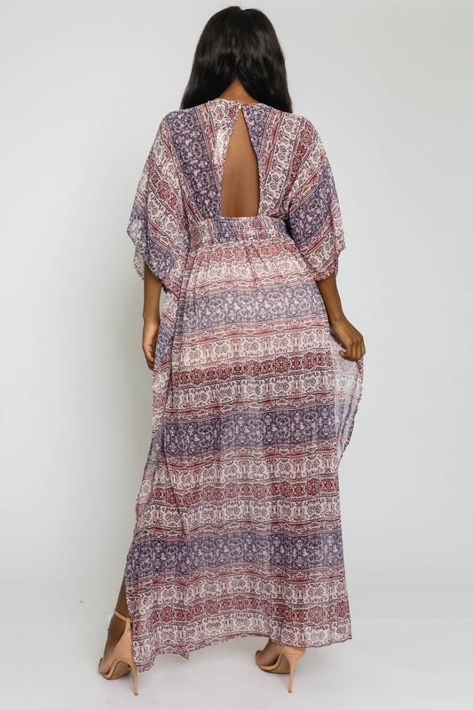Marissa Dolman Sleeve Maxi Dress