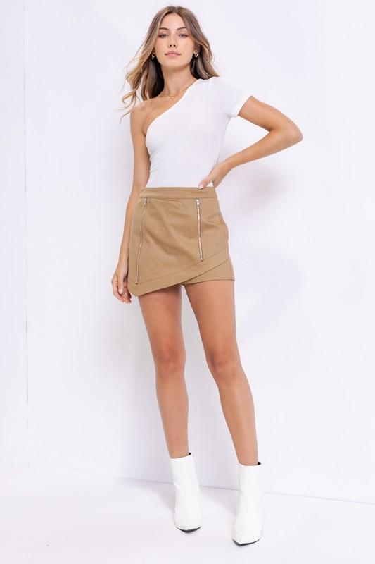 Milena Mini Skort with Zipper Detail