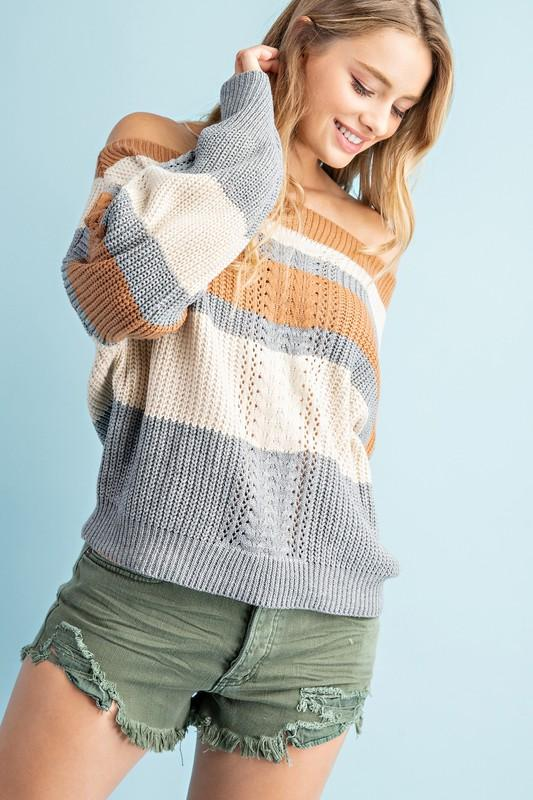 Cecilia Off Shoulder Sweater