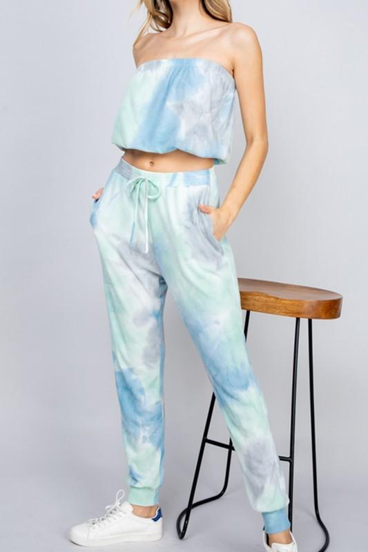 Arabella Tie Dye Tube Top and Pant Set