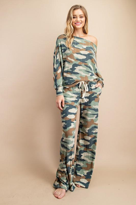 Abi Camouflage Lounge Pants (Matching top sold separately)