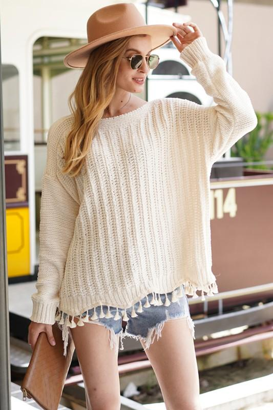 Kiki Sweater with Tassel Detail