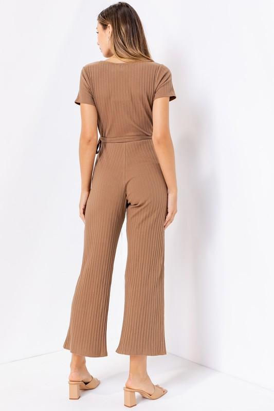 Kaia Short Sleeve Wrap Jumpsuit