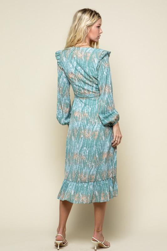Jenny Long Sleeve Wrap Dress