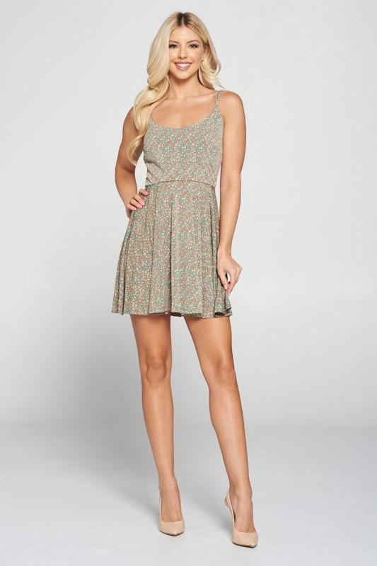 Leah Floral Print Mini Dress