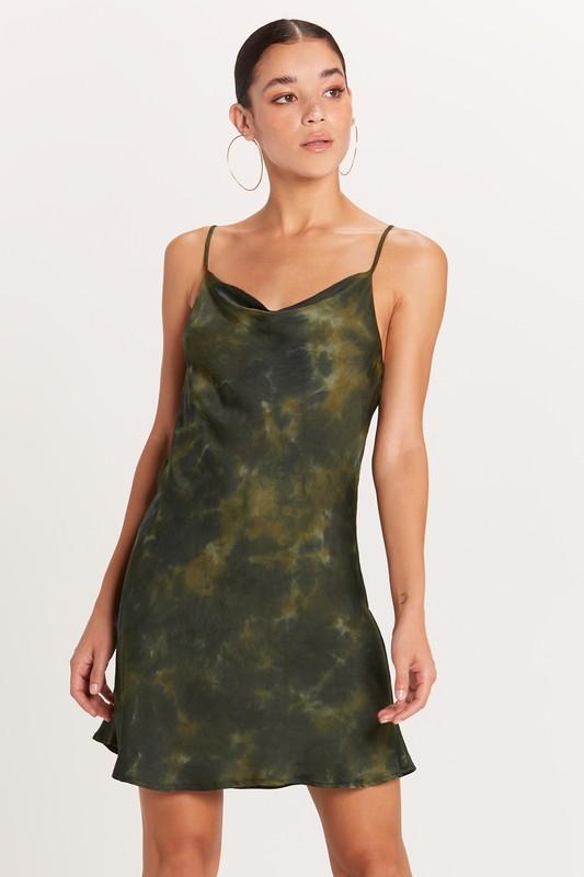 Chantel Tie-Dye Cowl Neck Mini Slip Dress