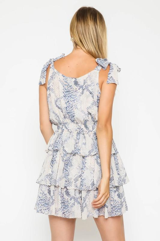 Anaya Printed Mini Ruffle Dress