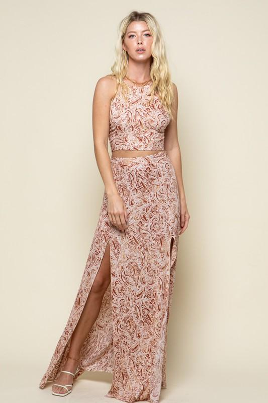 Giovanna Top and Maxi Skirt Set