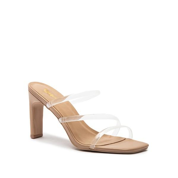 Neema Strappy Mule Sandal - Clear / BEST SELLER