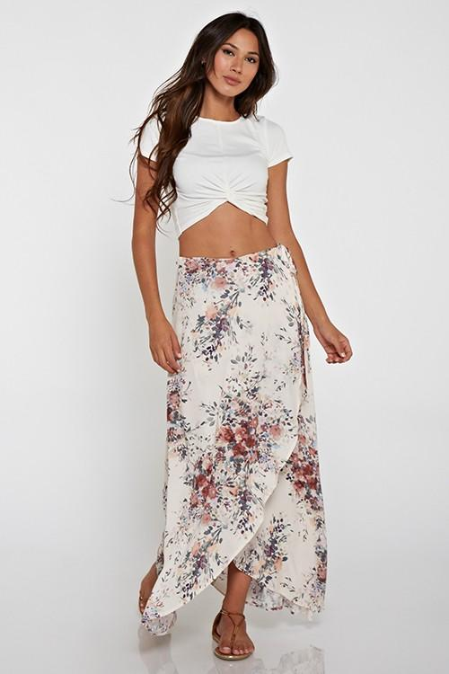 Shaylee Floral Printed Wrap Skirt - RESTOCKS 12/4/20 / ORDER NOW