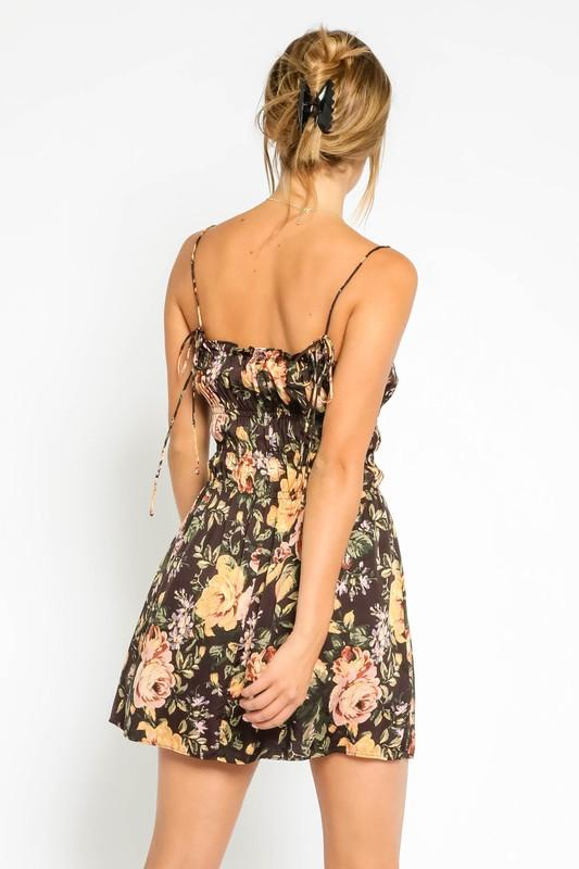 Kylla Floral Print Ruched Dress