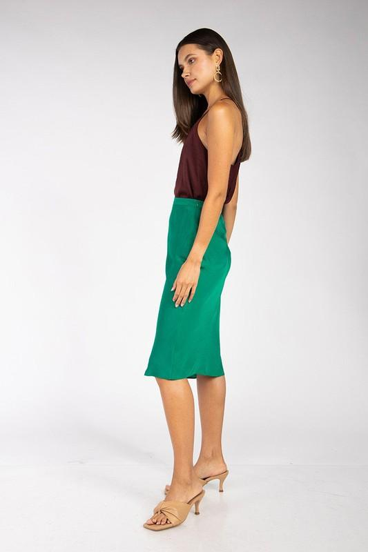 Dixie Satin Midi Skirt