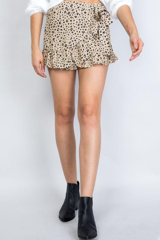 Misha Animal Print Skort