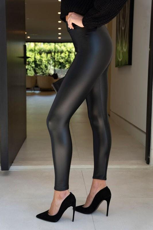 Noor Matte Leather Leggings