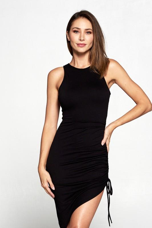 Faith Ruched High Neck Dress