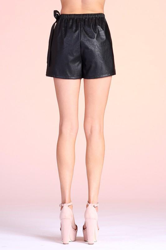 Remi Side Wrap Skort - Black