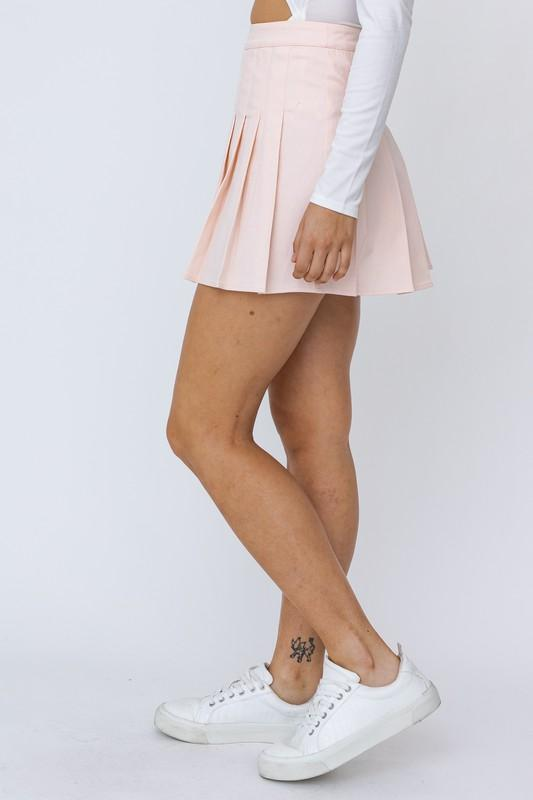 Evelyn Pleated Tennis Mini Skirt