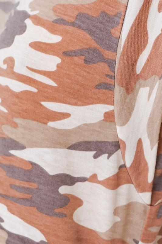Quinci Camouflage Muscle Tee