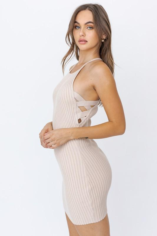Roxy Knit Mini Halter Dress