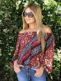 Katherine Off Shoulder Gypsy Top