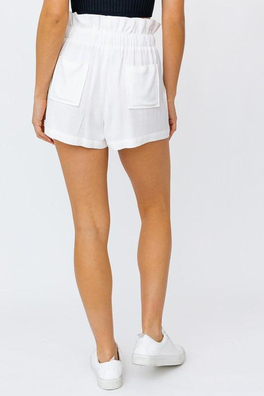 Payton Paperbag Shorts with Pockets
