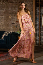 Erma Floral Strapless Maxi Dress