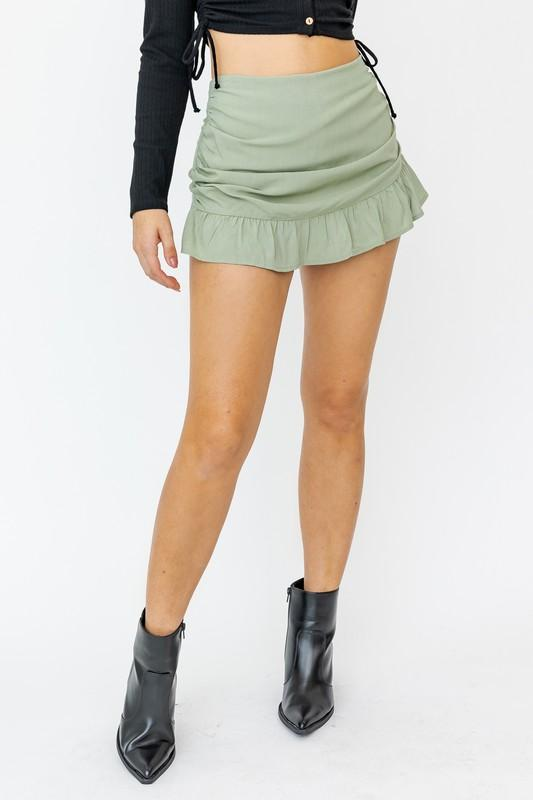 Amelie Mini Skort with Ruffle Detail