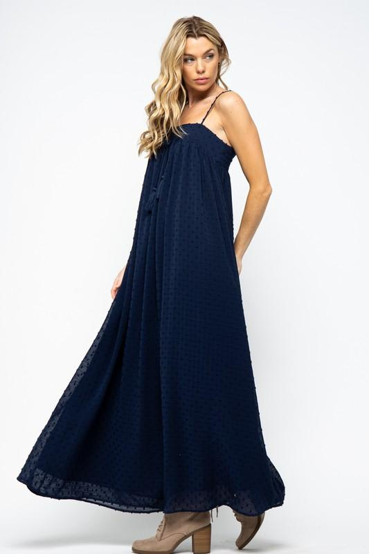 Elvina Swiss Dot Maxi Dress