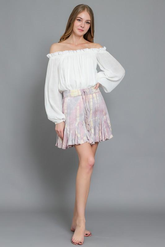 Meli Ruffle Mini Skirt