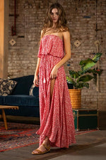 Everlasting Strapless Ruffle Maxi Dress - Red / RESTOCKING 5/27/21 - ORDER NOW