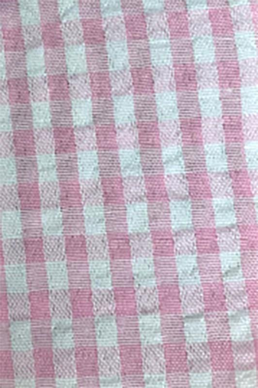 Teagan Gingham Off Shoulder & Smocked Skort Set - Light Pink