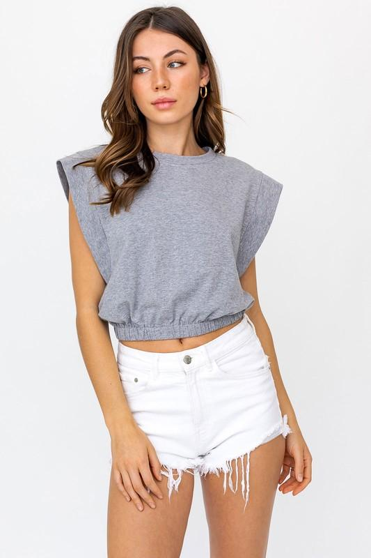 Michelle Muscle Tee - Grey