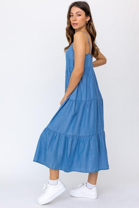 Nola Chambray Cami Maxi Dress