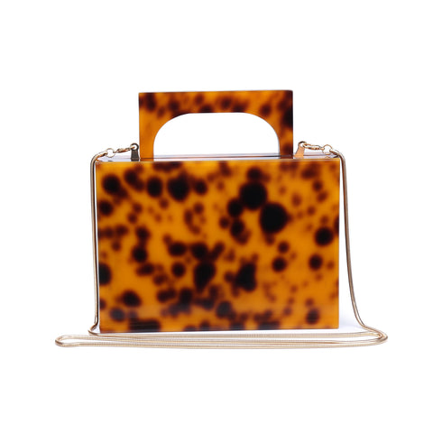 Christine Tortoise Box Clutch