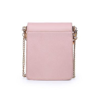 Claudine Tortoise Detail Cross-Body Bag - Blush