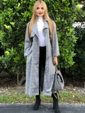 Alexa Plaid Trench Coat